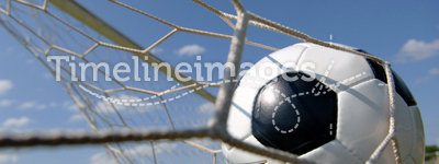Football - Soccer ball in Goal
