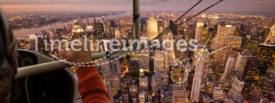 Flying over NY