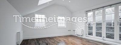 Loft room with roof window