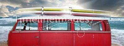 Vintage red van