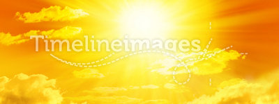 Yellow Sun Sky