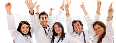 Very happy group of doctors